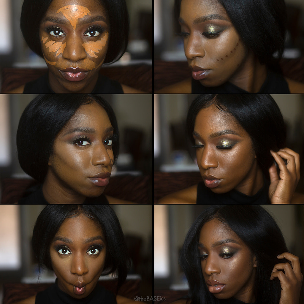 Example of underpainting on a black woman. Image via Cocoa Swatches