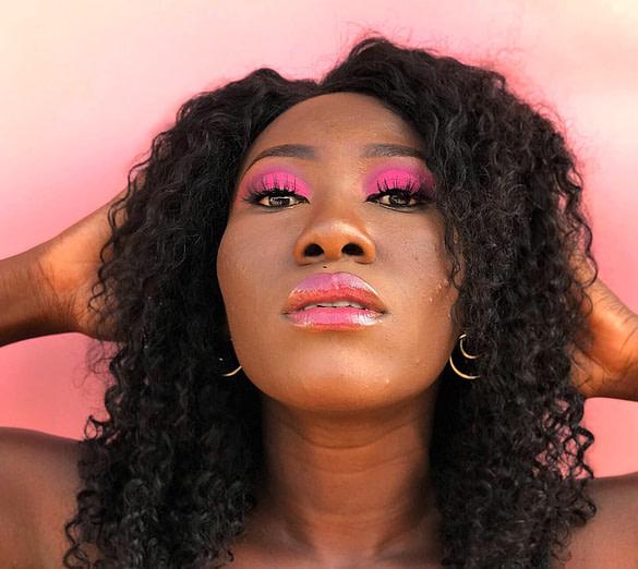 ibukun nartey pink eyeshadow